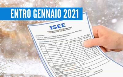 ISEE 2021, IMPORTANTE ENTRO GENNAIO
